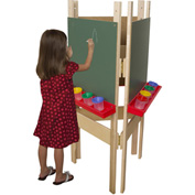Wood Designs Three-Way Adjustable Easel with Chalkboard