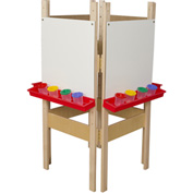 Wood Designs™ Four Sided Easel with Markerboard