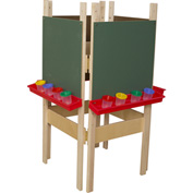 Wood Designs Four Sided Easel with Chalkboard