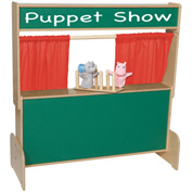 Wood Designs™ Deluxe Puppet Theater with Chalkboard