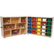 Tray and Shelf Folding Storage with 25 Assorted Trays