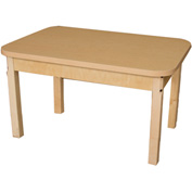 "Wood Designs 24"" X 36"" Rectangle High Pressure Laminate Activity Table with Hardwood Legs 18"""