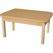 "Wood Designs 48"" x 24"" Rectangle High Pressure Laminate Activity Table with Hardwood Legs 18"""