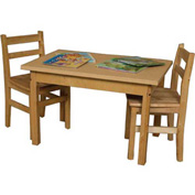 "Wood Designs 48"" x 24"" Rectangle High Pressure Laminate Activity Table with Hardwood Legs 20"""