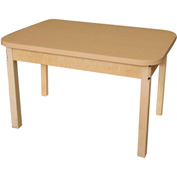 "Wood Designs 48"" x 24"" Rectangle High Pressure Laminate Activity Table with Hardwood Legs 22"""