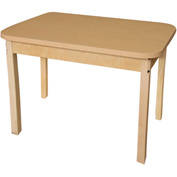 "Wood Designs 48"" x 24"" Rectangle High Pressure Laminate Activity Table with Hardwood Legs 24"""