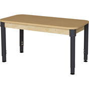 "Wood Designs 48"" x 24"" Rectangle High Pressure Laminate Activity Table with Adjustable Legs 18""- 29"""