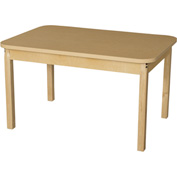 "Wood Designs 30"" x 44"" Rectangle High Pressure Laminate Activity Table with Hardwood Legs 24"""