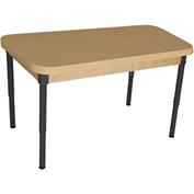 "Wood Designs 30"" x 44"" Rectangle High Pressure Laminate Activity Table with Adjustable Legs 18""- 29"""