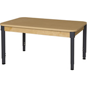 "Wood Designs 30"" x 48"" Rectangle High Pressure Laminate Activity Table with Hardwood Legs 22"""