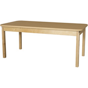 "Wood Designs 30"" x 60"" Rectangle High Pressure Laminate Activity Table with Hardwood Legs 20"""