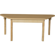 """Wood Designs 30"""" x 60"""" Trapezoidal High Pressure Laminate Activity Table with Hardwood Legs 18"""""""
