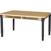 """Wood Designs 30"""" x 60"""" Trapezoidal High Pressure Laminate Activity Table with Hardwood Legs 24"""""""