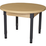 "Wood Designs 36"" Round High Pressure Laminate Activity Table with Hardwood Legs 20"""