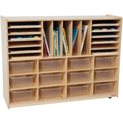 Storage with Twelve Clear Rectangular Trays