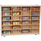 Storage with 24 Clear Rectangular Trays