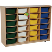Storage with 24 Assorted Rectangular Trays