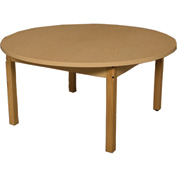 """Wood Designs 48"""" x 48"""" Round High Pressure Laminate Activity Table with Hardwood Legs 18"""""""