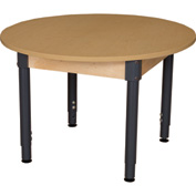 "Wood Designs 36"" x 36""Round High Pressure Laminate Activity Table with Adjustable Legs 18""- 29"""