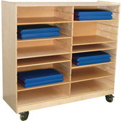 Wood Design Folding Rest Mat Storage Center