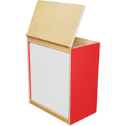 Wood Designs™ Strawberry Red Big Book Display with Magnetic Markerboard