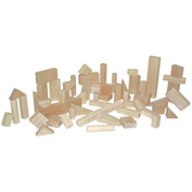 Wood Designs™ Basic Blocks - 15 Shapes, 56 Pieces