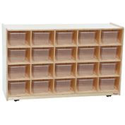 Twenty Tray / Shelves Island with Twenty Clear Trays