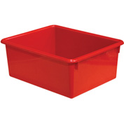 "Wood Designs WD78004 Rectangular Tote Tray, Red, 10-1/2""W x 13-1/8""D x 5""H"