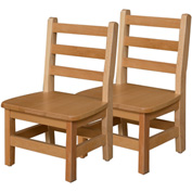 """Wood Designs™ 10"""" Seat Height Hardwood Chair, Carton of Two"""