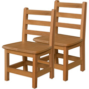 """Wood Designs™ 12"""" Seat Height Hardwood Chair, Carton of Two"""