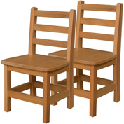 "Wood Designs™ 13"" Seat Height Hardwood Chair, Carton of Two"