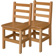 "Wood Designs™ 14"" Seat Height Hardwood Chair, Carton of Two"