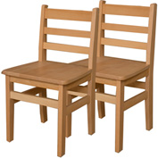 "Wood Designs™ 16"" Seat Height Hardwood Chair, Carton of Two"