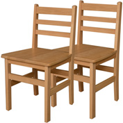 """Wood Designs™ 18"""" Seat Height Hardwood Chair, Carton of Two"""