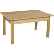 "Wood Designs™ 24"" x 36"" Rectangle Table with 20"" Legs"