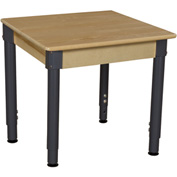 "Wood Designs 24"" Square Hardwood Activity Table with Adjustable Legs 18""- 29"""