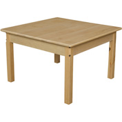 "Wood Designs™ 30"" Square Table with 18"" Legs"