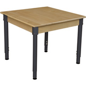 """Wood Designs 30"""" Square Hardwood Activity Table with Adjustable Legs 18""""- 29"""""""