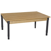 "Wood Designs 48"" x 30"" Rectangle Hardwood Activity Table with Adjustable Legs 18""- 29"""