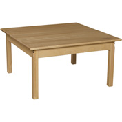 "Wood Designs™ 36"" Square Table with 20"" Legs"