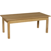 "Wood Designs™ 24"" x 48"" Rectangle Table with 22"" Legs"