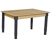 "Wood Designs 24"" x 48"" Rectangle Hardwood Activity Table with Adjustable Legs 18""- 29"""