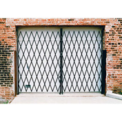 Double Folding Security Gate 10'W x 6'H In Use