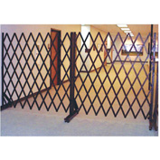 Portable Folding Security Gate 6'W x 6'H In Use