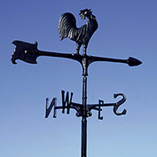 """30"""" Rooster Accent Weathervane, Black"""