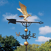"46"" Eagle Weathervane, Gold-Bronze"