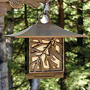 Pinecone Suet Bird Feeder, French Bronze