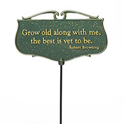 Garden Poem Sign - Grow Old Along with Me