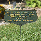 Garden Poem Sign - The Kiss of the Sun