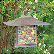 Nuthatch Suet Bird Feeder, Copper Verdigris